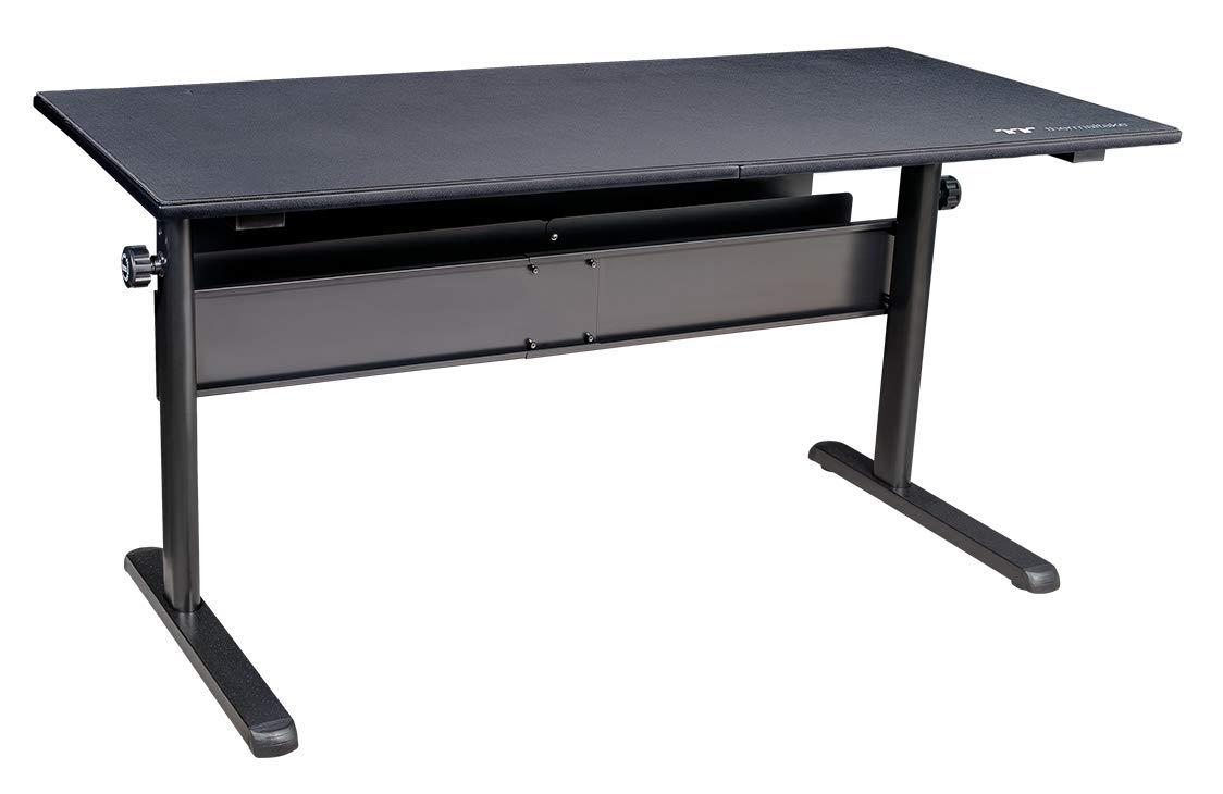 Thermaltake Tt Gaming Level 20 Gt Battlestation Computer Gaming Desk, Adjustable Heights, Scratch Resistant Surface, Full-Sized Desk Mat, Cable Management System GD-LBS-BRHANX-01