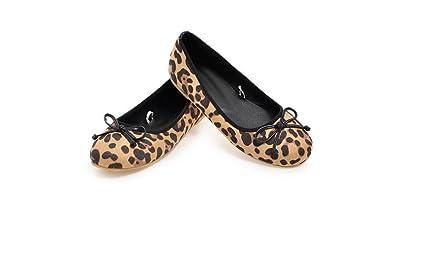 Beauqueen Pumps Frauen Frühling und Sommer flache Aerobic Schuhe Leopard Cross Straps weiblichen rosa schwarzen Casual Schuhe Europa Größe 32-48 , pink , 42 (not returned)
