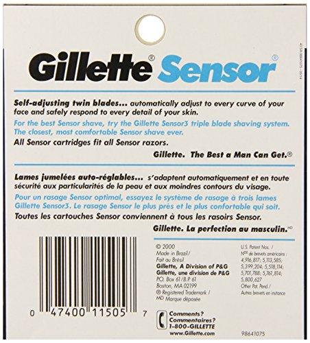 Gillette Sensor Men's Razor Blade Refills, 10 Count, Mens Razors/Blades by Gillette (Image #1)
