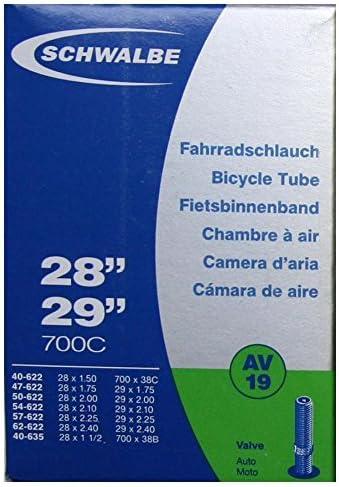 Black by Schwalbe 28 x 1.5-2.35 Schwalbe AV19 Tube Schrader 700 x 38-45C