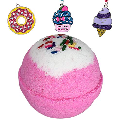 Birthday Surprise BUBBLE Bath Bomb with Surprise Girls Necklace Inside by Two...