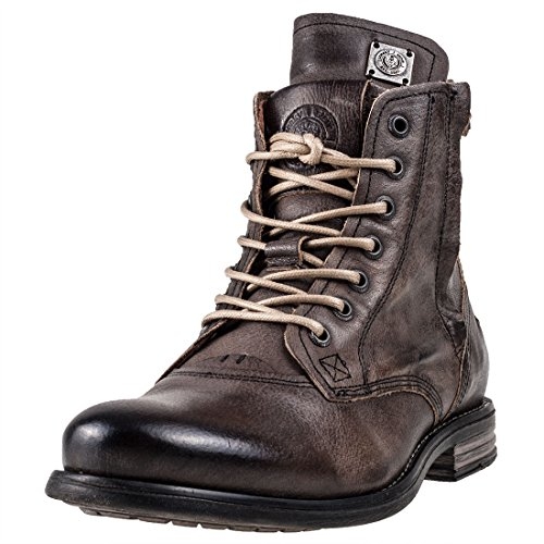 Sneaky Steve Mens Kingdom Leather Boots Charcoal