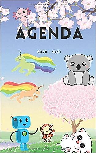 Amazon Fr Agenda 2020 2021 Agenda Scolaire Journalier Kawaii Panda Licorne Robot Fille Monstre Animal 292 Pages College Lycee Etudiant 12 20cm Jassinay Diane Livres