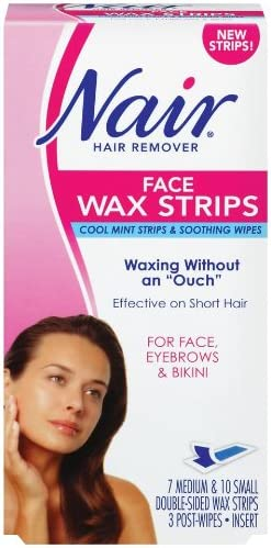 Amazon Com Nair Face Wax Strips Ready To Use 1 Box Beauty