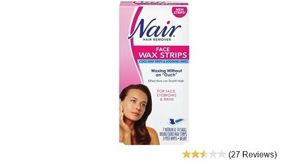Amazon Com Nair Face Wax Strips Ready To Use 1 Box Beauty