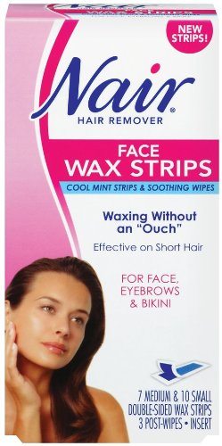 Nair Face Wax Strips, Ready to Use, 1 Box by Nair