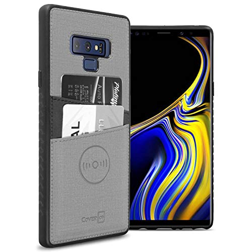 CoverON EDC Series Galaxy Note 9 Card Holder Case, Slim Fit Magnetic Car Mount Compatible Wallet Phone Cover for Samsung Galaxy Note 9 - Gray