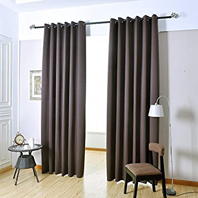 H.Versailtex Thermal Insulated Innovated High Density Microfiber Home Fashion Blackout Curtains Window Drapes,Grommet Top -Set of 2 Panels