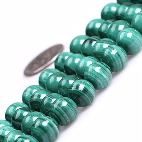 9mm Round Gemstone Natural Malachite Grade A Beads Strand 15 Inch Jewelry Making Beads
