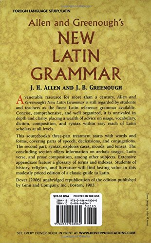 Allen and Greenough's New Latin Grammar (Dover Language Guides) by Dover Publications