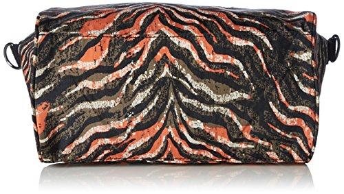 Kipling AMIEL BP - Bolso de hombro de material sintético para mujer, talla 27x25x15 cm (B x H x T) Multicolor (Pink Animal Pr)