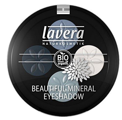lavera Lidschatten Beautiful Mineral Eyeshadow Quattro ∙ Farbe Blue Platinum blau ∙ farbbrilliant & langanhaltend ∙ Natural & innovative Make up ✔ vegan ✔ Bio Pflanzenwirkstoffe ✔ Naturkosmetik ✔ Auge