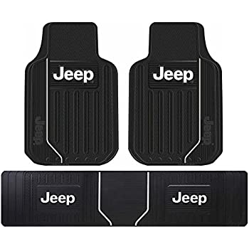 Amazon Com Jeep Logo Car Truck Suv Front Amp Rear Seat