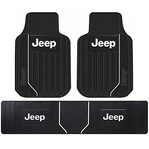 Jeep Elite Black Front Rear Runner Heavy Duty Rubber Floor Mats Universal