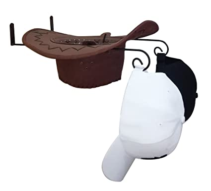 e6084490930 Queens DIY Cowboy Hat Holder Black Metal Hat Rack Wall Mounted Baseball hat  Hanger (1)
