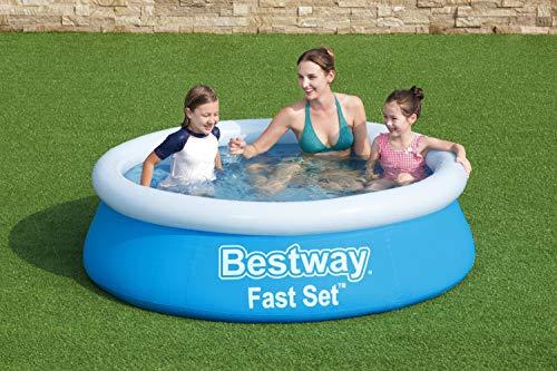 BESTWAY 57392 – Piscina Hinchable Infantil Fast Set Mi Primera Piscina 183x51cm