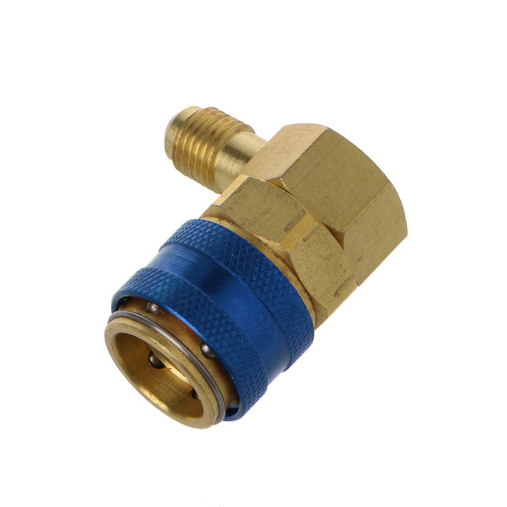 Blue Yunso AC R134A Quick Connector Adapter Coupler Auto A//C Manifold Gauge Low//High HVAC