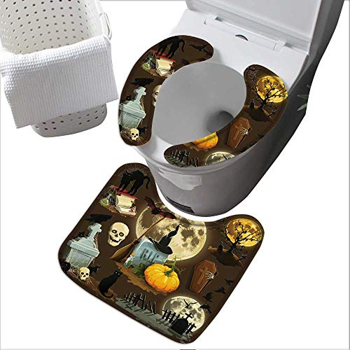 (Universal Toilet seat Clip Art s for Halloween Celebration Convenient Safety and Hygiene L14.6 x W 4.3