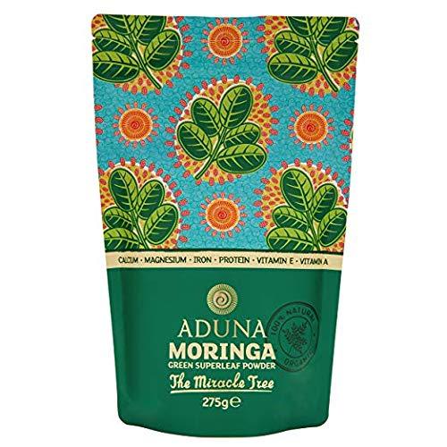 Aduna Premium Organic Moringa Oleifera Superleaf Powder 275g. Raw Superfood and Multi-Vitamin. Vegan, non-GMO, Gluten free