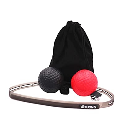 Tekijun Boxing Reflex Ball Set, Boxing Reflex Speed Balls Headband Set MMA Muay Thai Reaction Punch Ball: Toys & Games