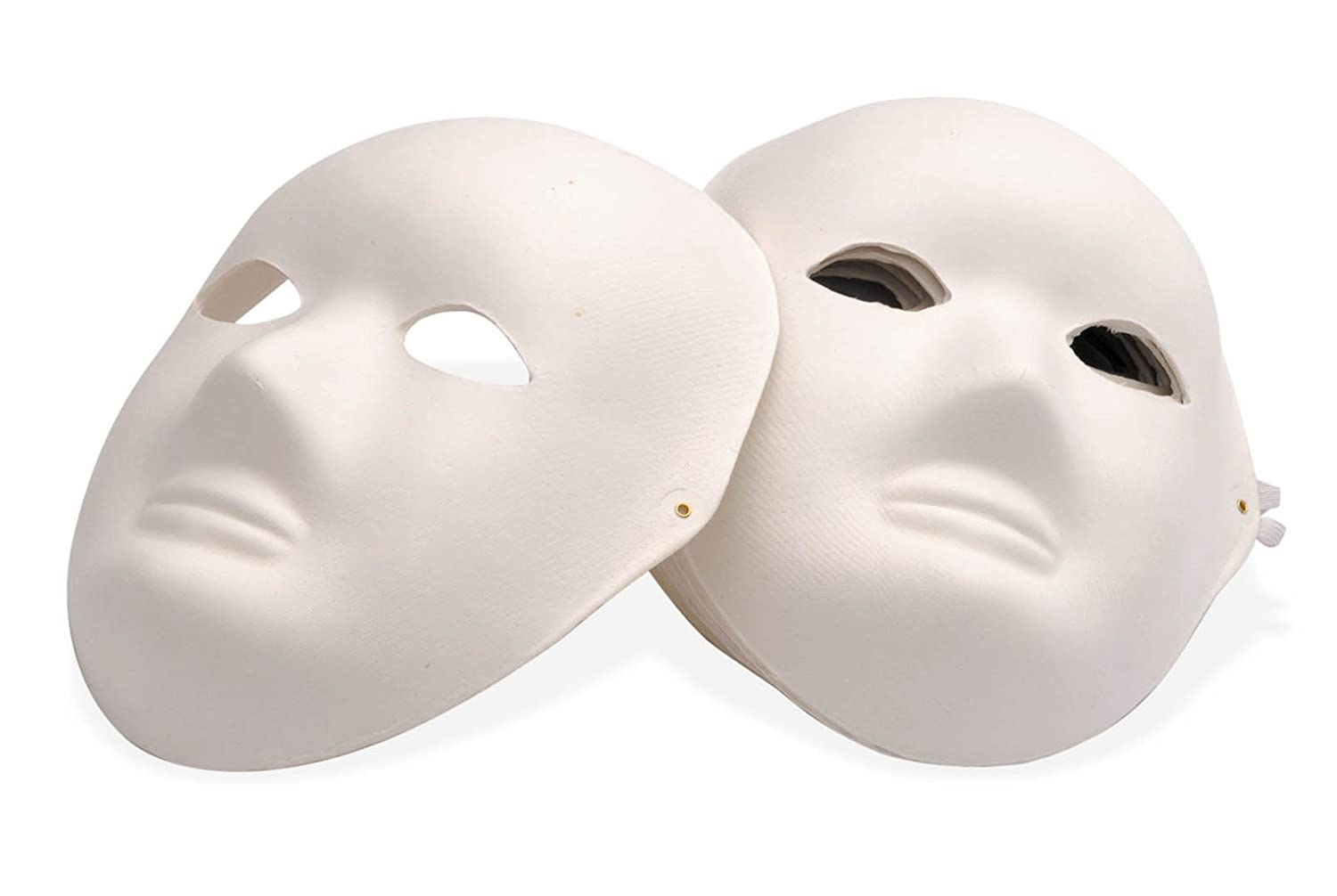 High quality, tough, blank Paper Mache Face Masks - Pack Of 10 ...