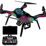 MightySkins Protective Vinyl Skin Decal for 3DR Solo Drone Quadcopter wrap cover sticker skins Neon Tropics