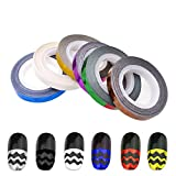 13Roll/lot Nail Striping Tapes Colorful Wave Type Nail Art Tape Line Nails Art Tips Decoration Stickers Liner DIY Tools