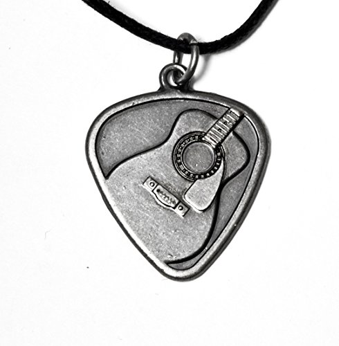 Earth Solutions Music Jewelry - Pick Acoustic Guitar on Adjustable 24