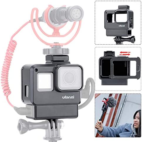Ulanzi V2 Gopro 보호 케이스 Gopro Hero 567 용 3.5 mm 마이크 어댑터 홀더 / Ulanzi V2 Gopro Protection Case Gopro Hero 567 3.5mm Microphone Adapter Holder
