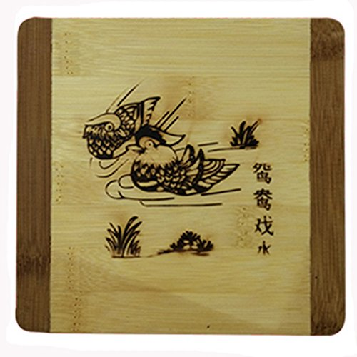 Creative Apple Moso Bamboo Place Mat/ Cup Mat/ Pot Holder, Fish, Set of 4