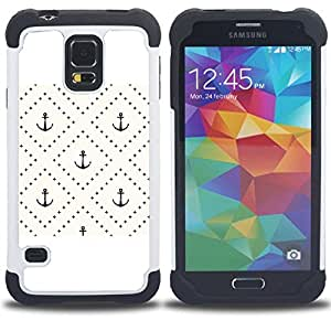 For Samsung Galaxy S5 I9600 G9009 G9008V - checkered tile pattern pastel Dual Layer caso de Shell HUELGA Impacto pata de cabra con im??genes gr??ficas Steam - Funny Shop -