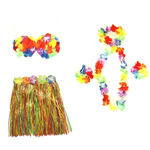 Party Costume Alter Ideas Ego (Zac's Alter Ego Fancy Dress 6-Piece Hawaiian One Size Costume Set Ideal For Beach Summer Parties & Hen)