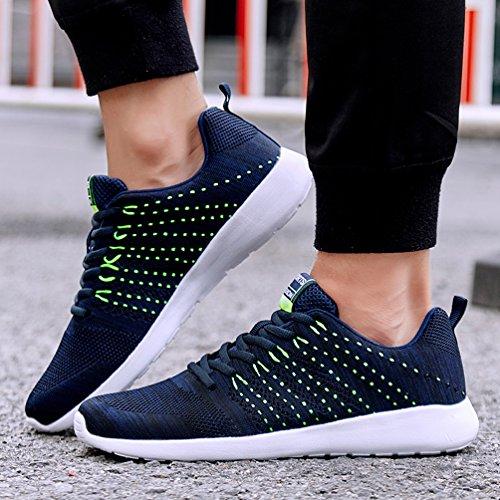 AFFINEST Mens Womens Fashion Sneakers athletische Outdoor-Sport-Wanderschuhe Blau