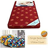 Story@Home MAT_1102-FY1101 4-inch Single Size Foam Mattress (Maroon, 72x30x4)