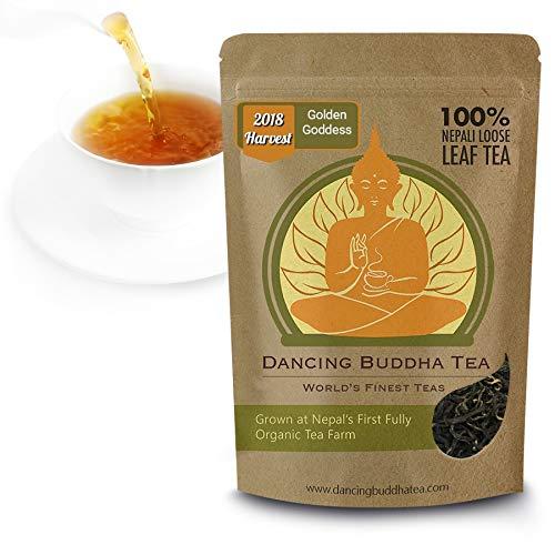 Golden Goddess Nepali Gold | Gourmet Black Tea Loose Leaf | Organic Grown in the foothills of Mt. Kanchanjangha | Garden Fresh 2018 Harvest | Hot Tea & Ice Tea | Resealable Bag | 50 Grams 25 Cups ()