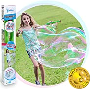 WOWMAZING Giant Bubble Wands Kit: (3-Piece Set) | Incl. Wand, Big Bubble Concentrate and Tips & Trick Book