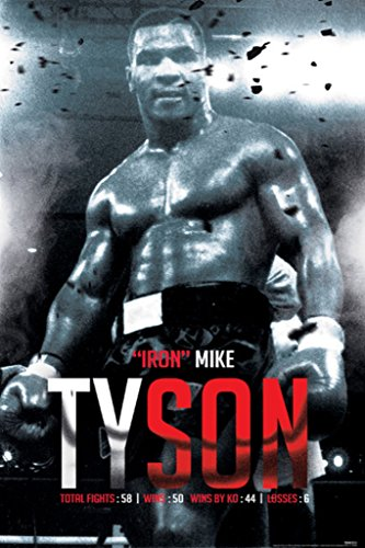 Pyramid America Mike Tyson Boxing Record Sports Poster 24x36