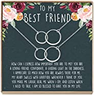 Best Friend Necklace - Heartfelt Card & Jewelry Gift for Birthday, Holiday,