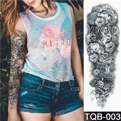 HXMAN Nuevas 3 Piezas Temporal Tatuaje Pegatina Fox Conejo ...