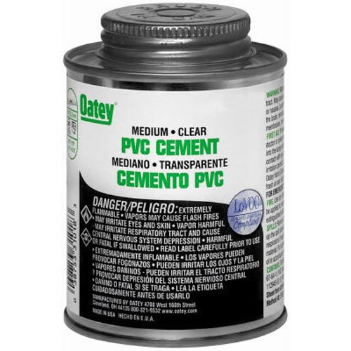 Clear Pvc Cement (Oatey 31018 PVC Medium Cement, Clear, 8-Ounce)