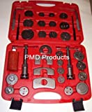 Disc Brake Caliper Piston Compressor Windback Wind Back Pad Tool 35pc W/case