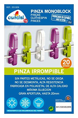 PINZA ROPA MONOBLOCK IRROMPIBLE 20 UNIDADES