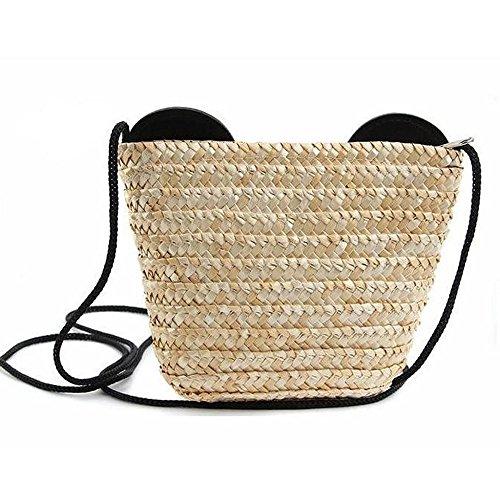 rayas pelo diseño Bolso de OneMoreT de tejido mujer a rayas de para mano 1zpnA7