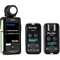 Sekonic Corporation L-478DR-U-PX Phottix ARES II Trigger & Receiver Light Meter, Black (401-476ARESII)