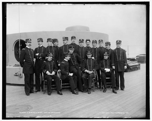 - Photo: USS New York,junior,cruisers,warships,military officers,personnel,sailors,1893