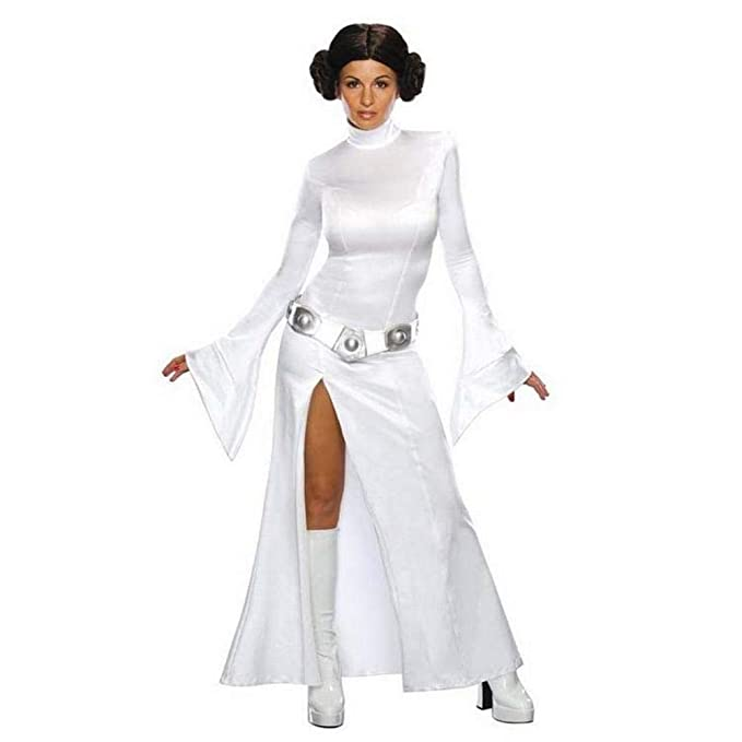 MU Star Wars Cos Liya Princess Vestido Blanco Cosplay Halloween ...