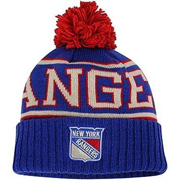 49548755f78 ... cheap new york rangers reebok blue team cuffed knit hat with pom 8f0fb  a11cf