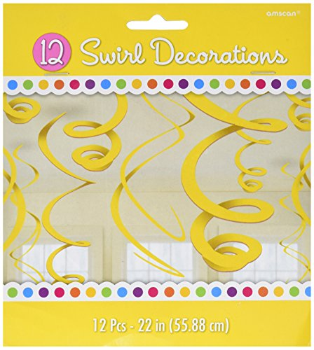 Party Hanging Swirls | Sunshine Yelow | Party Decor
