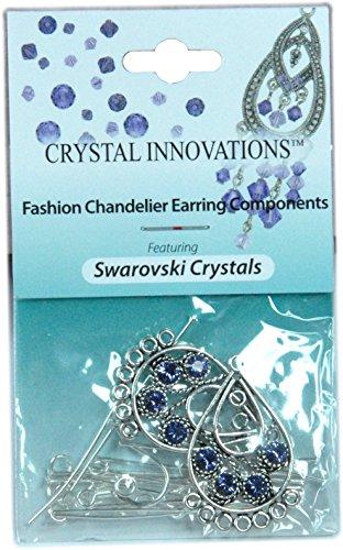 Swarovski Crystal Innovations Tanzanite Purple Crystal Earring Kit (Crystal Earring Kit Swarovski)
