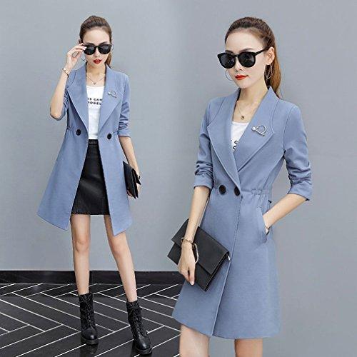 Section Coatcoat C Long Thin Jacket Suit Temperament Female Collar Wu Coat n1YO4qwB